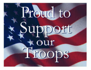 Proud to Support our Troops